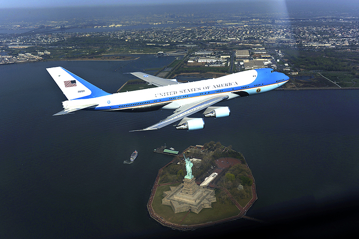 endroits fortement gardés - air force one