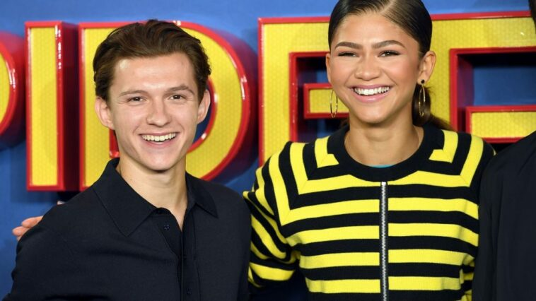 Tom Holland and Zendaya on the red carpet together in June 2017 in London, England.
